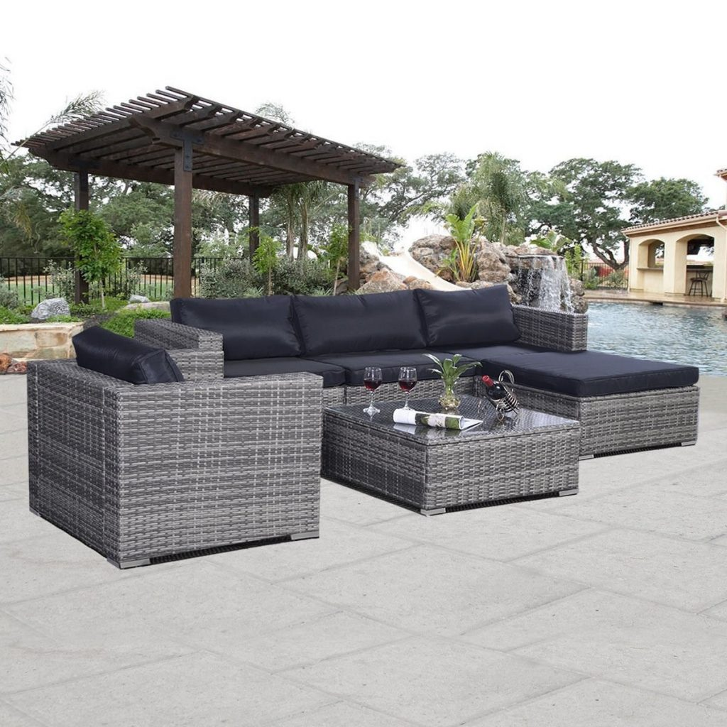 Giantex 6pc Patio Sofa Furniture